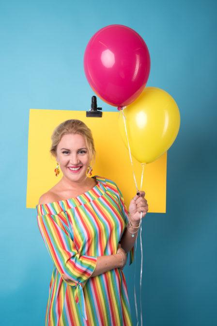 imagefoto mit luftballons