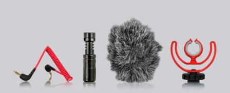 mikrophon kamerazubehör-produktfoto