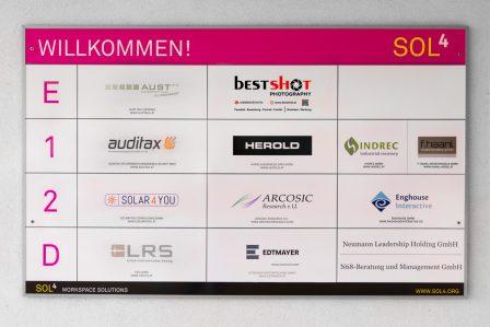 Eingangstafel Unternehmen im Sol4