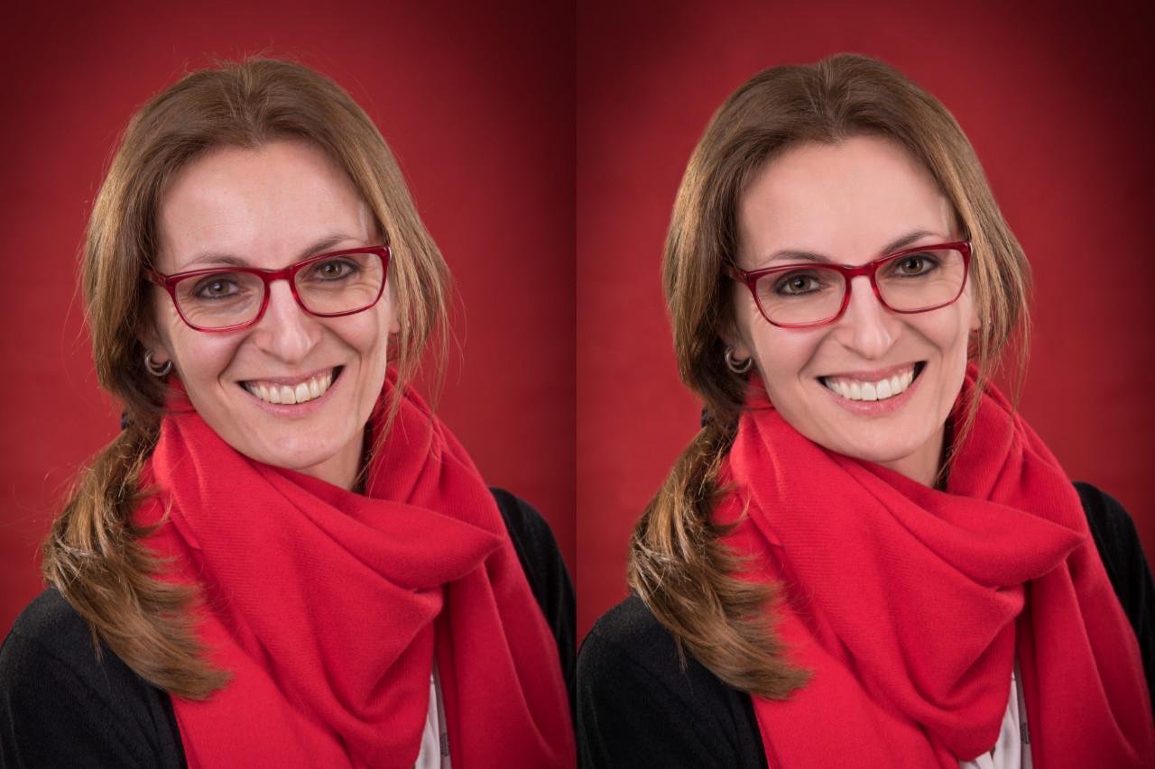Portraitfoto Raphaela Tod, Beispiel für Beautyreutsche vorher - nachher