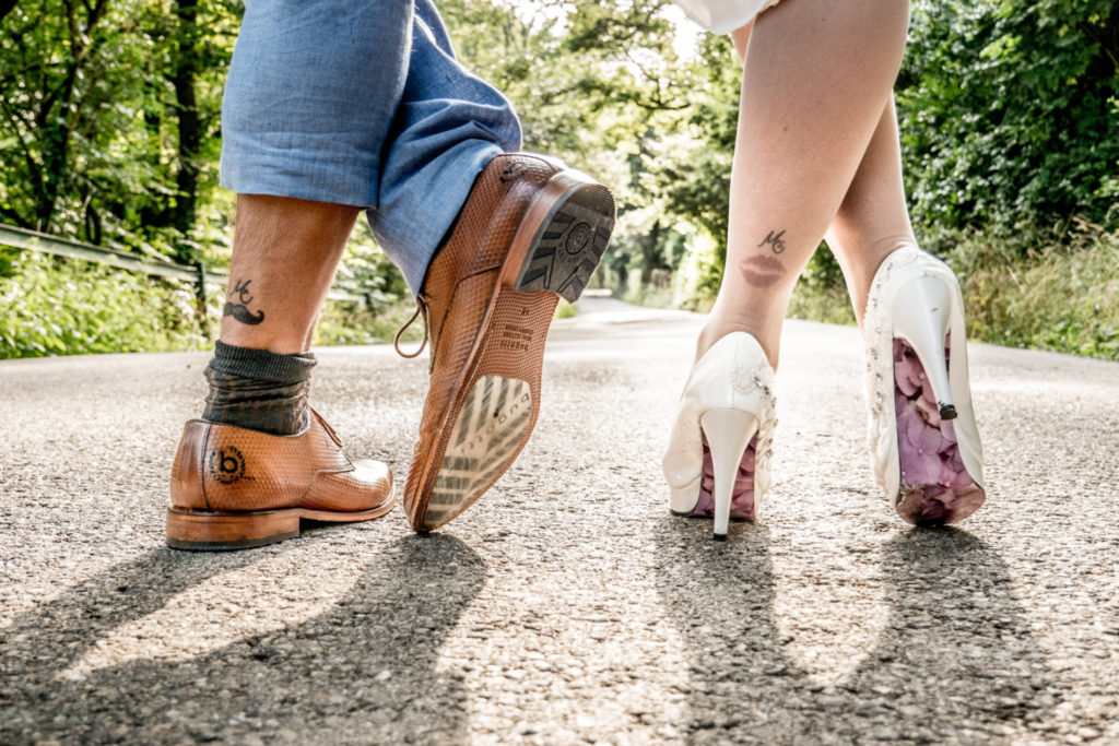 Hochzeitsfoto Mr&Mrs -Tattoo, just married