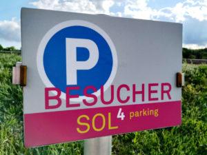 Schild Besucherparkplatz