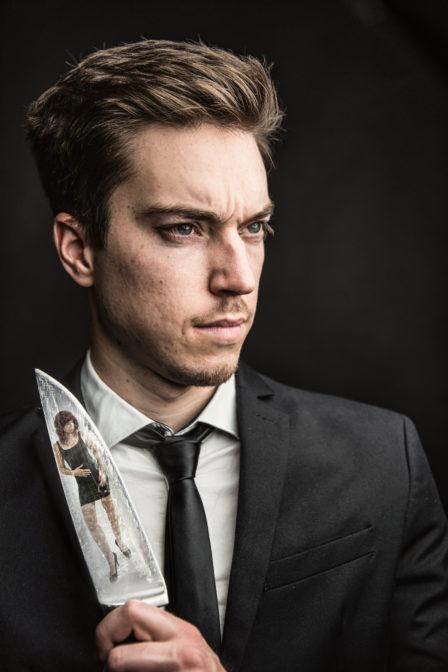 Nachbau des Kinofilmplakates American Psycho
