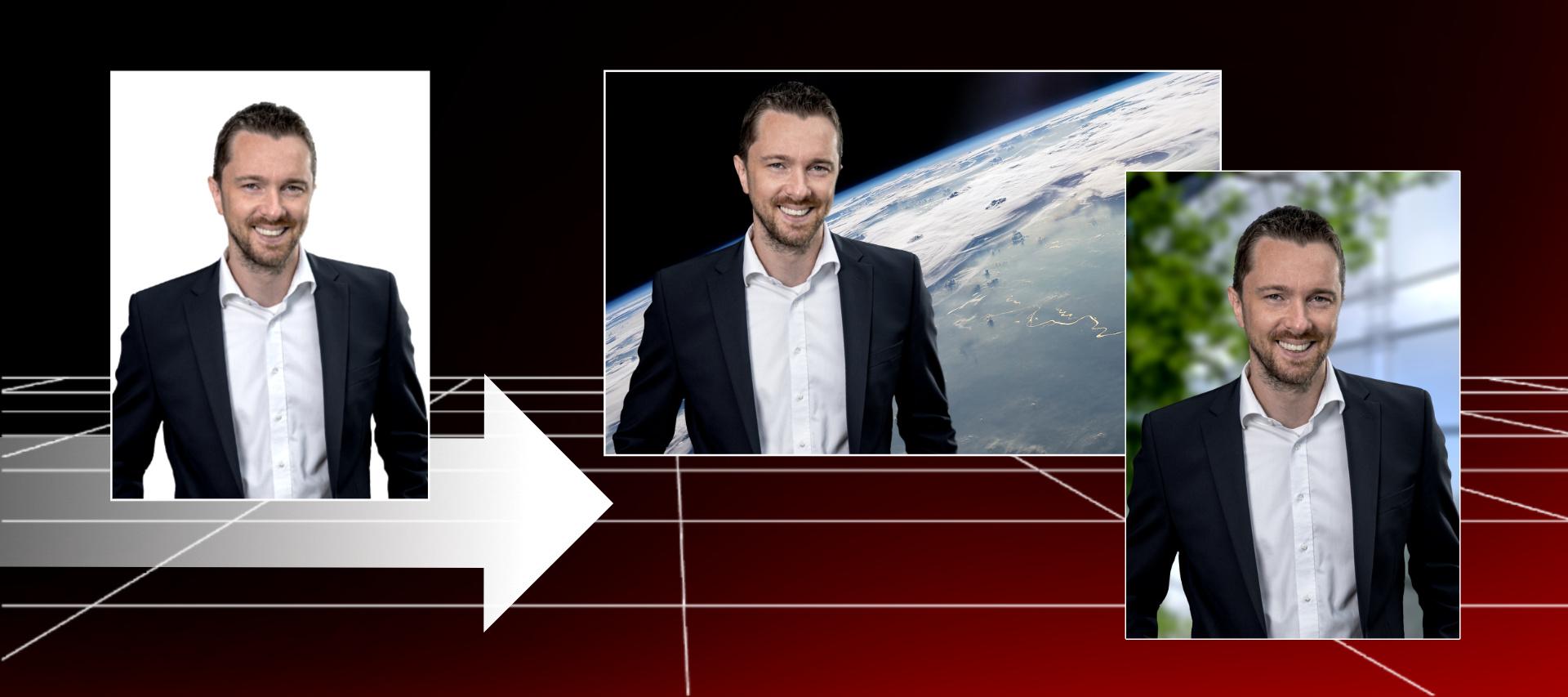 Hintergrund-Austausch Businessfoto