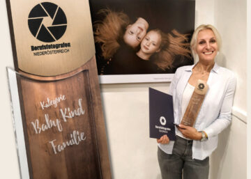Raphaela Simon ausgezeichnet mit dem Landespreis Berufsfotografen Noe Kategorie Baby Kind Familie bronze